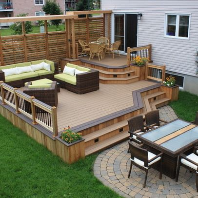deck designs beautiful wood deck design that could work for our house, a good UPHPYHM