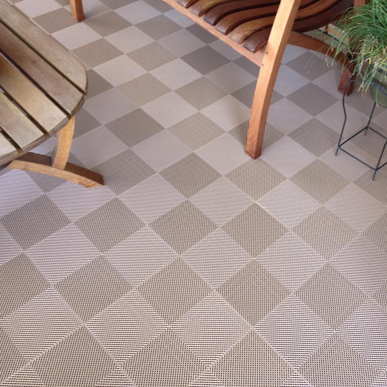 deck flooring shop blocktile deck and patio flooring interlocking perforated tiles (pack  of EYUKFIY
