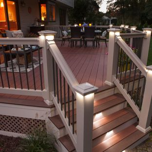 deck ideas deck - large craftsman backyard deck idea in boston with a fire ISKUFXF