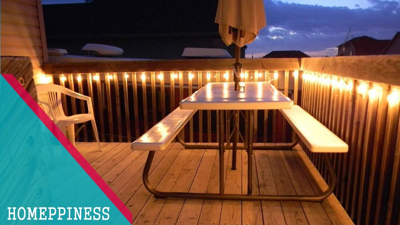 deck lights 30+ stunning deck lighting ideas - homeppiness MRJXJKQ
