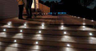 deck lights paradise six-piece 12-volt led deck and stair light kit PQCUGUU