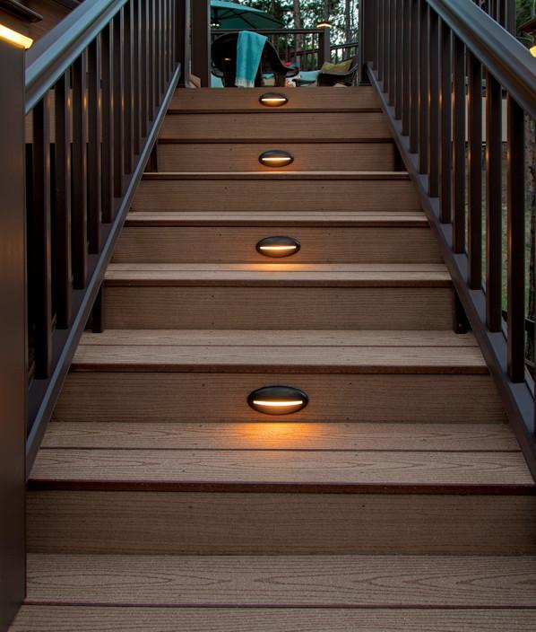 deck lights timbertech deck riser lights - view 2 XBFQERR