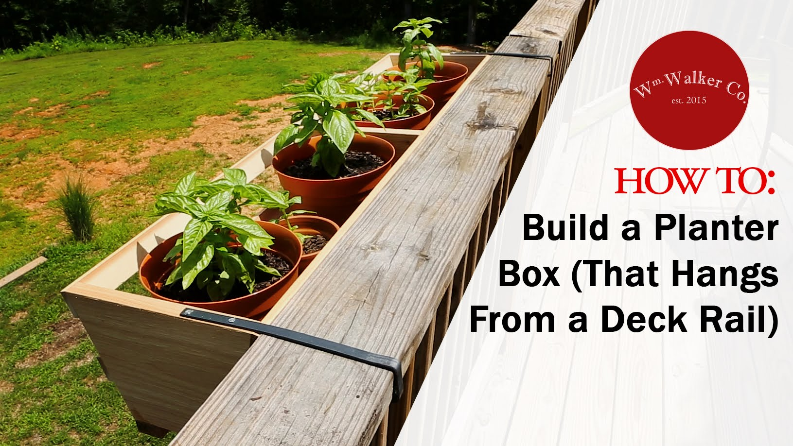 deck planters how to build a planter box (to hang from a deck rail) YOMMXJX