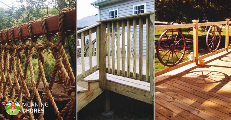 deck railing designs 32 diy deck railing ideas