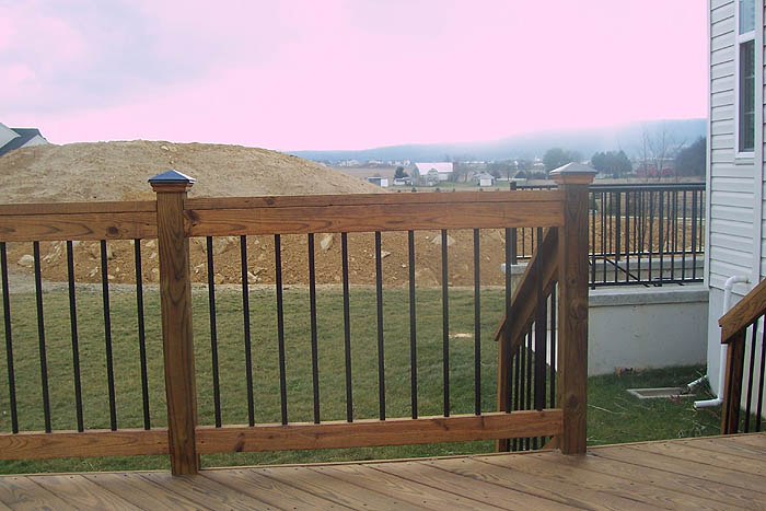 deck spindles deck railings pictures custom deck railing spindles and  balusters KJJIBDS