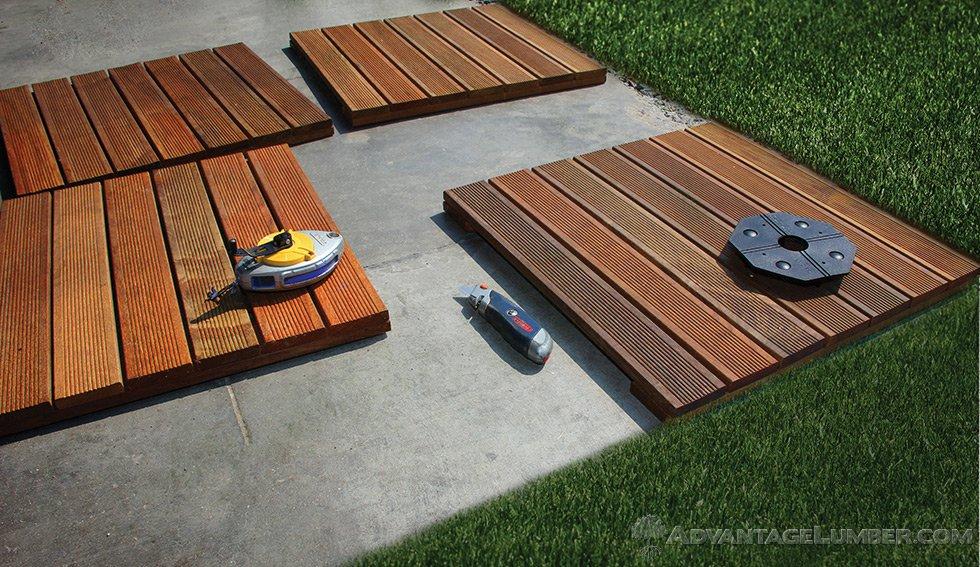deck tiles installation OUPMUHD