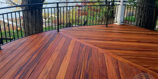 decking designs tigerwood deck, tropical decking advantage lumber