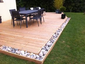 decking ideas backyard deck ideas - small backyard