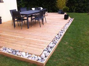 decking ideas backyard deck ideas - small backyard IXLKBWJ