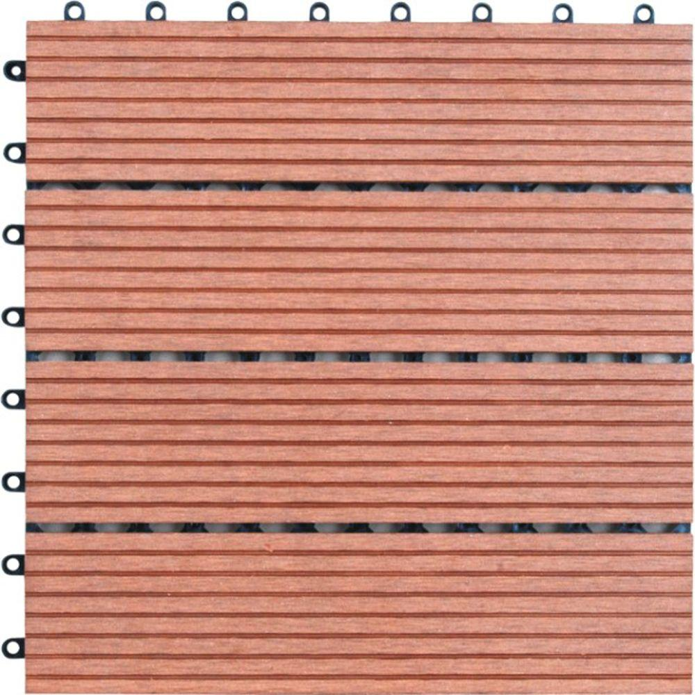decking tiles naturesort composite deck tiles in bamboo (11-pack) (common: 12 in KDNVKUX