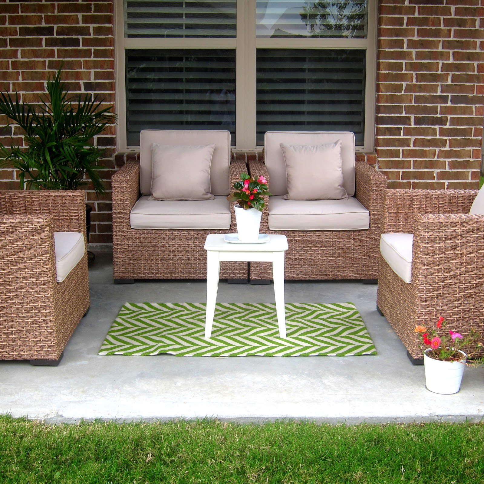 decor ideas patio rugs elegant wicker patio furniture with cushions and OKQENUV