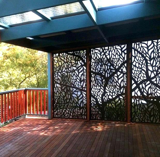 decorative outdoor screens screening on pergola roof panels brisbane . YAJCGYS