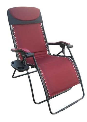 deluxe big u0026 tall outdoor recliner (fully padded for ultimate comfort), BNVULSX