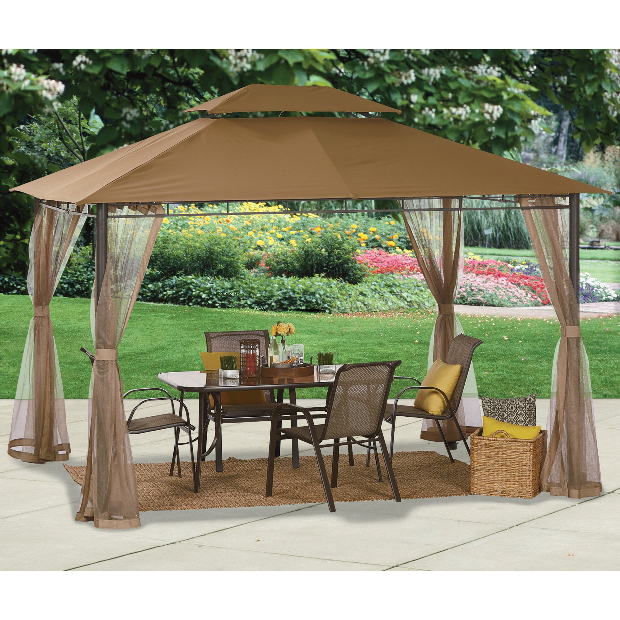 deluxe patio gazebo tent - 10ft. x 12ft.