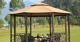 dia 4 meter 8-edge shape garden patio gazebo tent aluminum outdoor sun TUDOEQP