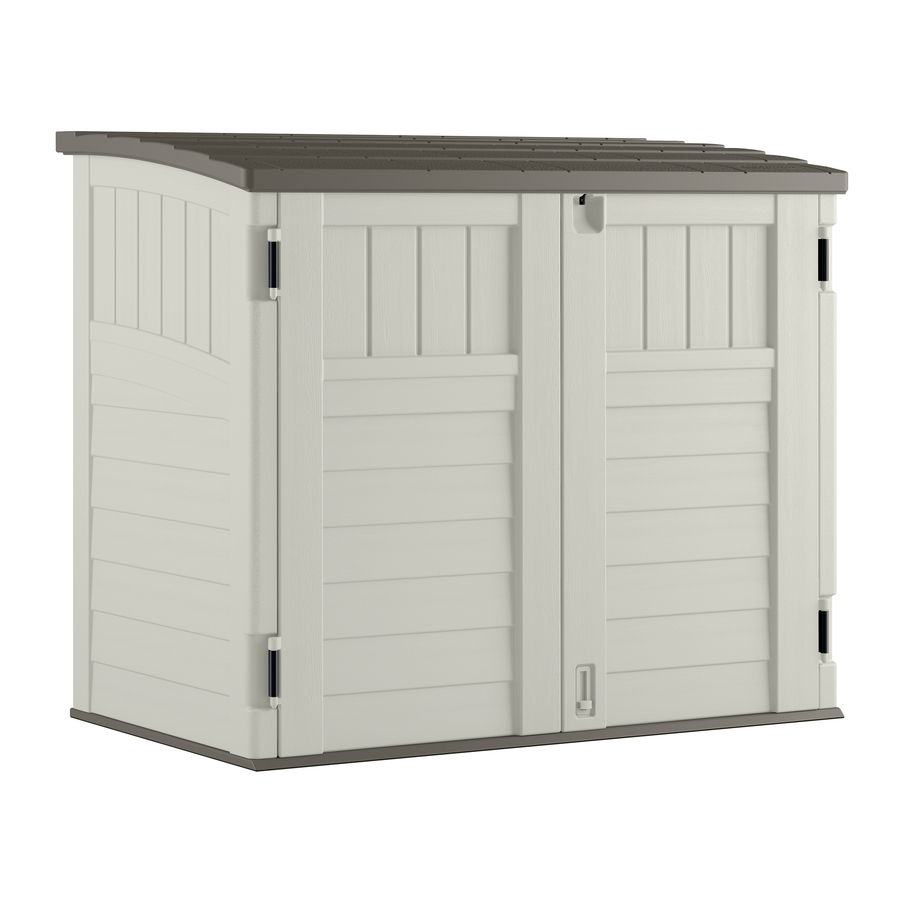 display product reviews for vanilla resin outdoor storage shed (common:  53-in DSPHWBT