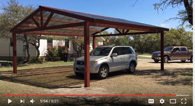 diy carport diy metal carport on a budget DFAASRJ