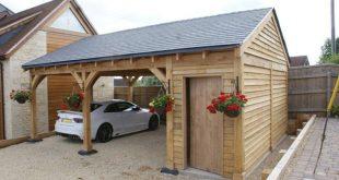 diy carport double carport with ½ bay storage MYZCXHX