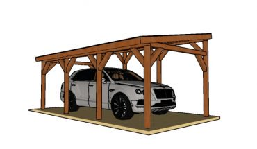 diy carport single car lean to carport - free diy plans EEYXNHF