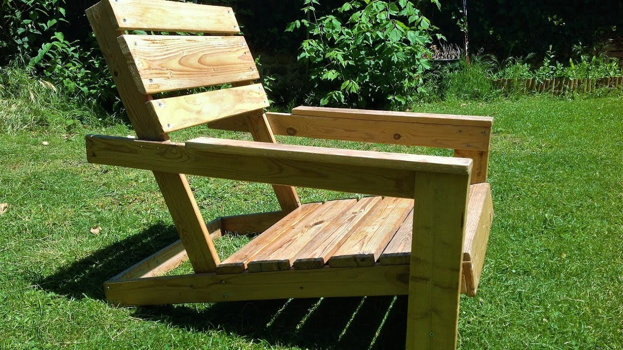 diy easy homemade garden chairs from pallets EFGQCLV