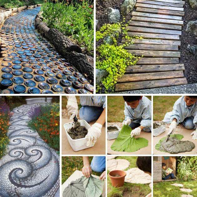 diy garden ideas 25-lovely-diy-garden-pathway-ideas-00 RZQVPYJ