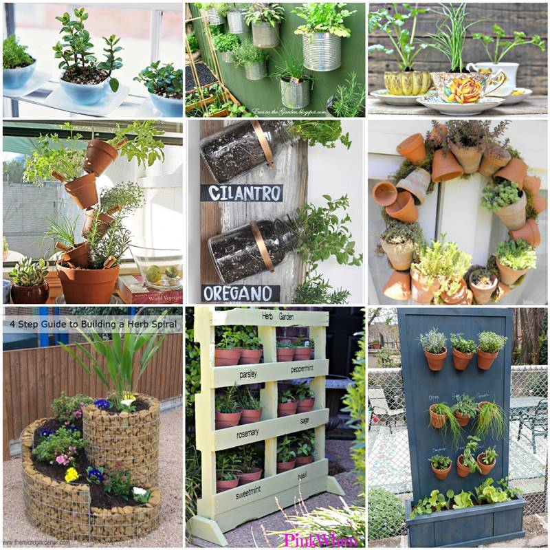 diy garden ideas 35+ creative diy herb garden ideas JTOZDLZ
