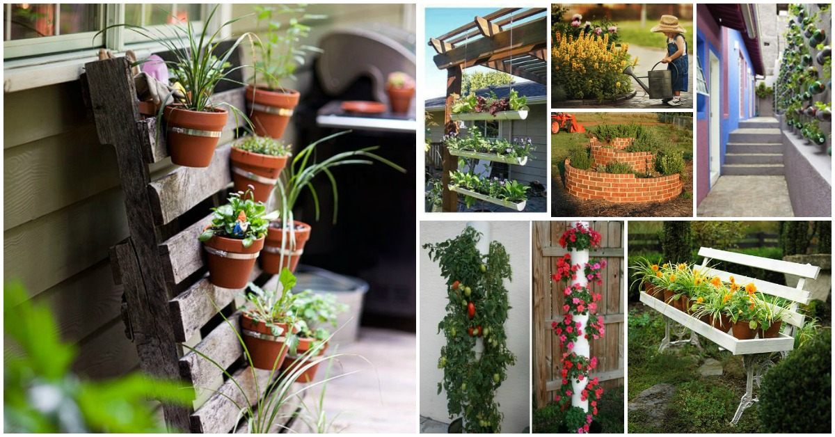 diy garden ideas 40 genius space-savvy small garden ideas and solutions - diy u0026 crafts SACESLD