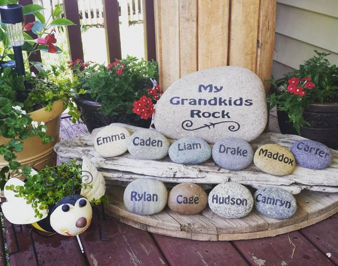 diy garden ideas my grandkids rock...these are the best garden ideas! RBTIJBT