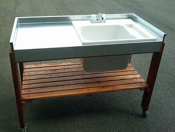 diy outdoor garden sink UUBJWXK