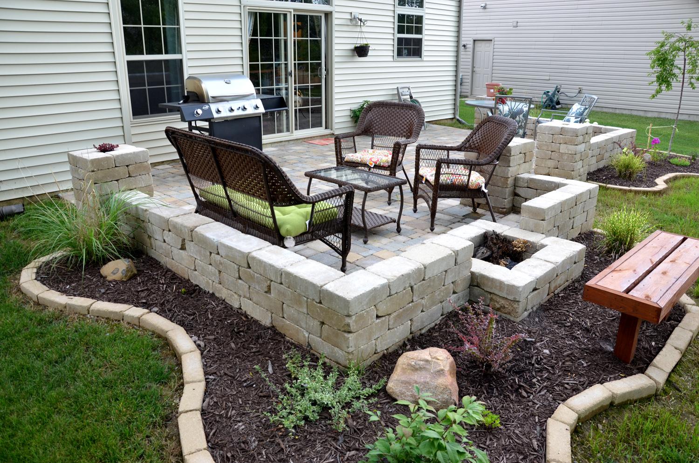 diy patio diy backyard stone paver patio tutorial