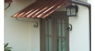 door awning 10 ft copper door or window