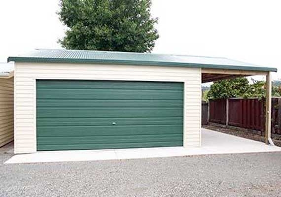double garage 6m x 6.6m with extended roofline. RSJCGFM