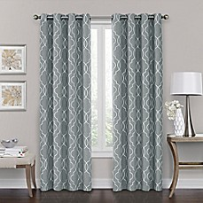 drapes and curtains brent grommet 100% blackout window curtain panel SJEQILT