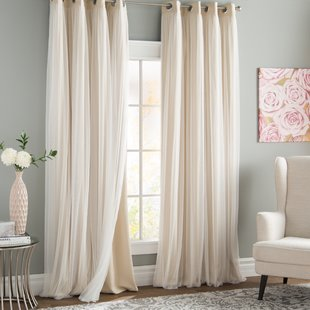 drapes and curtains brockham thermal grommet curtain panels (set of 2) DGKPPIT