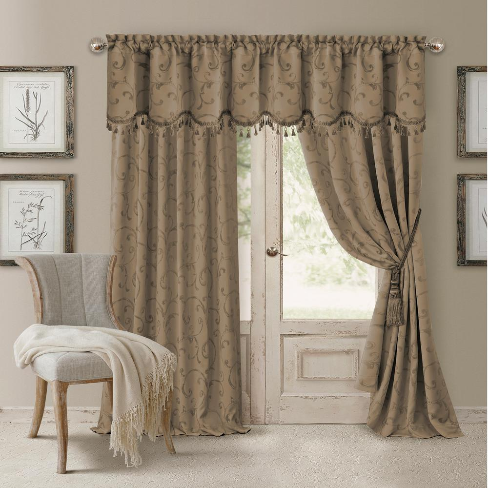 drapes and curtains elrene blackout taupe blackout energy efficient room darkening rod pocket  window VSVSORC