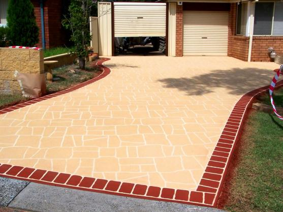 driveway designs by designer concrete resurfacing BIHPXGM