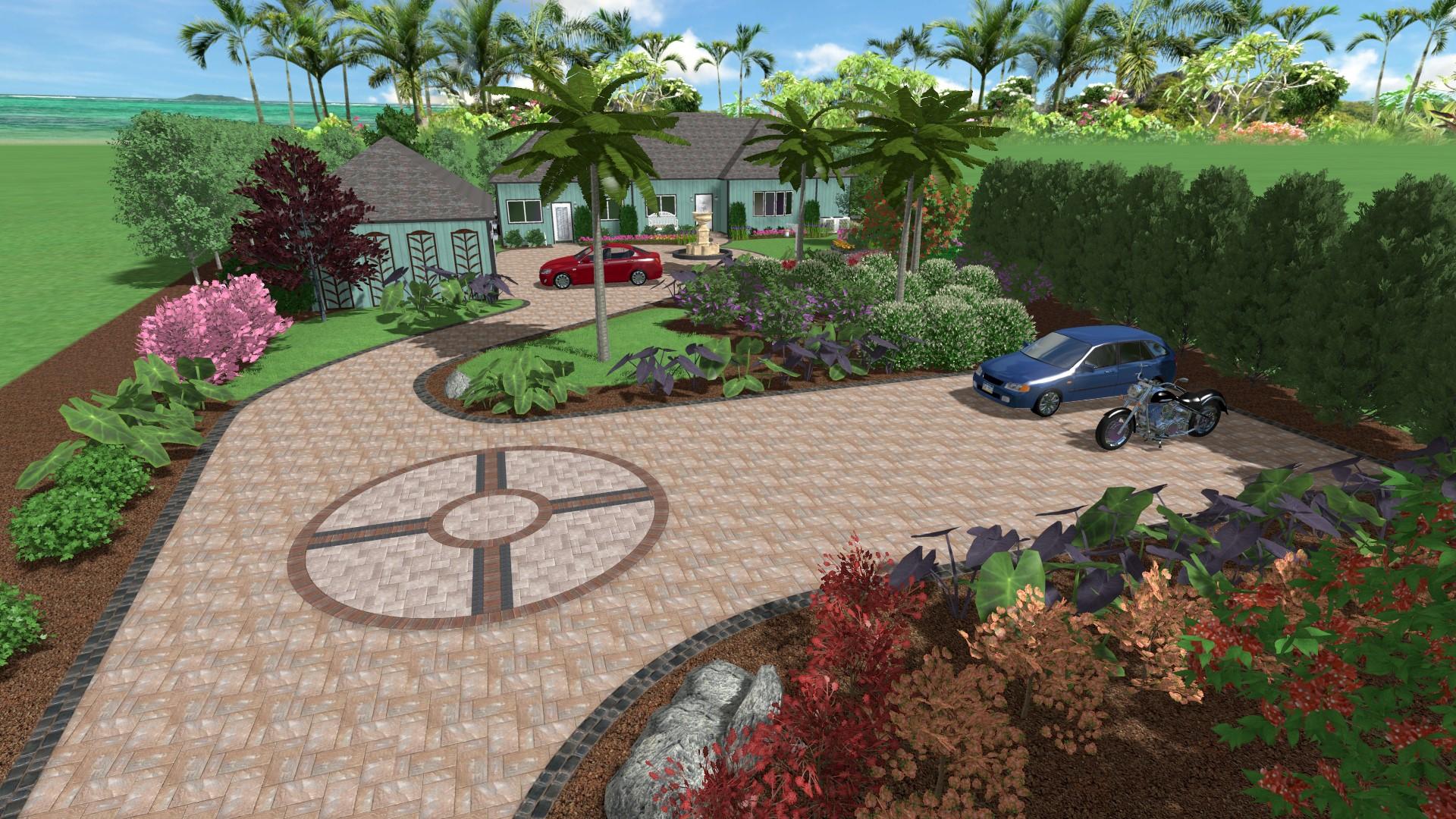 driveway sample landscape design HSXVOWJ