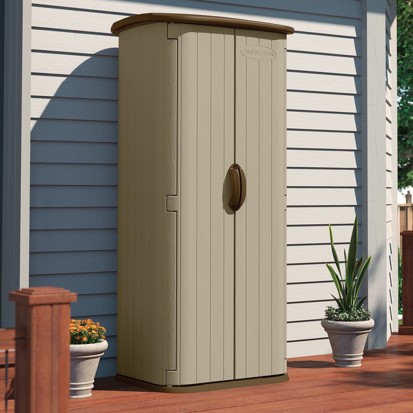 durable double wall resin outdoor garden tool storage shed - made in VKTHLMH