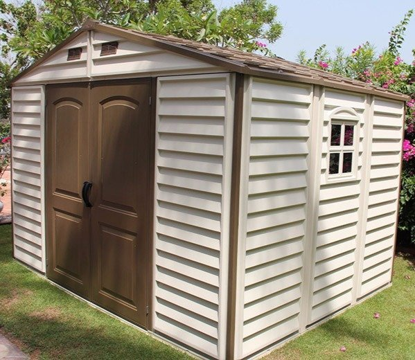 duramax sheds duramax 10ft x 8ft woodside plastic shed JLLXWBL