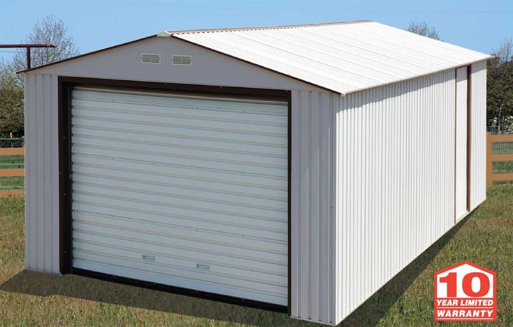 duramax sheds duramax 12x20 metal garage-white PVNLMAX