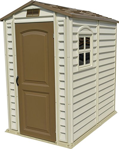 duramax sheds duramax 30621 storepro vinyl shed with floor, 4 by 6-inch LNKMGRX