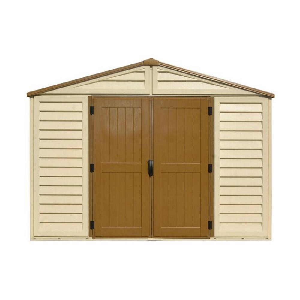 duramax sheds duramax building products woodbridge plus 10.5 ft. x 10.5 ft. vinyl storage TULCDIV
