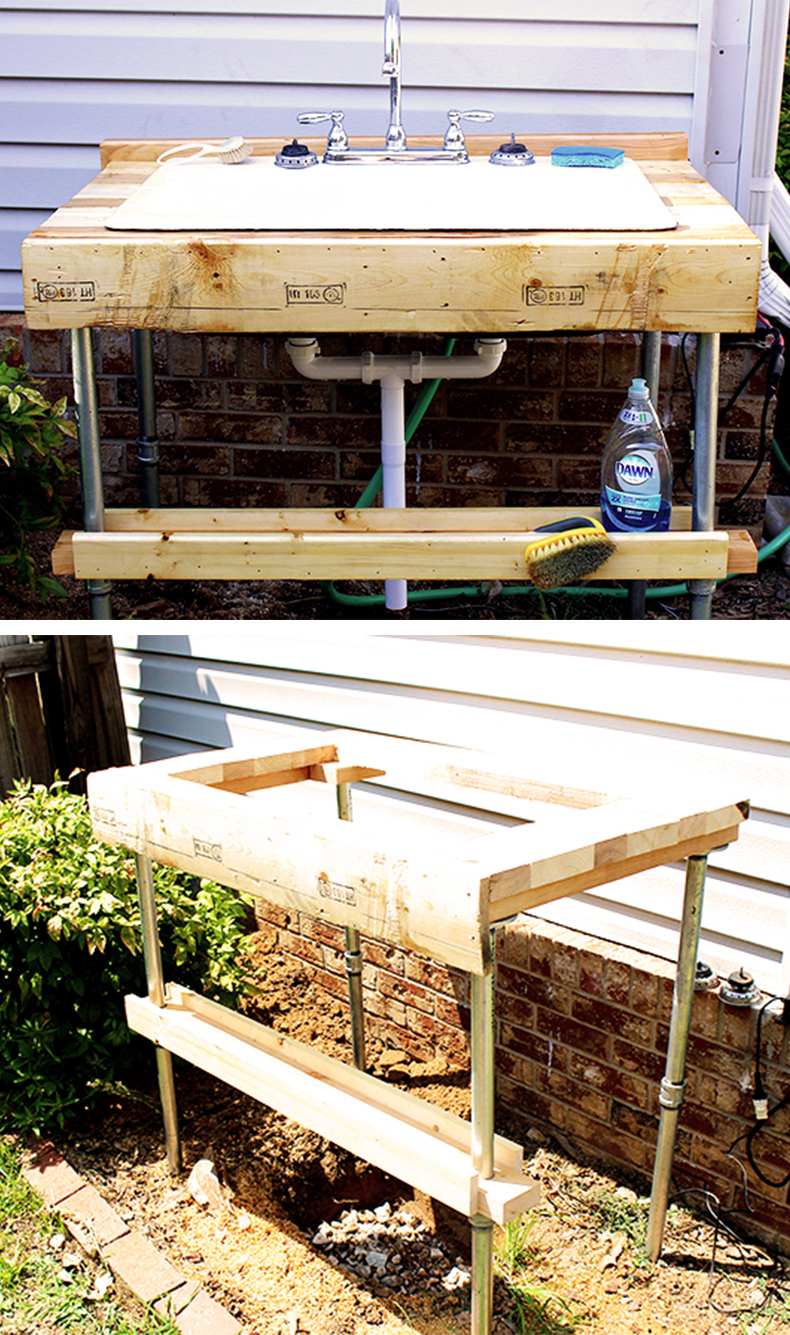 easy-to-build outdoor garden sink SMHAPVO