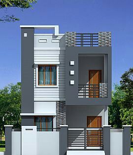 elevation designs plz suggest me this design will comes perfect by the plot size ABEGCBP