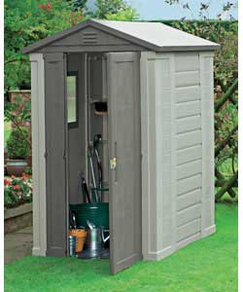 erection of plastic garden shed - garages - sheds job in horsham, VYIJGMM