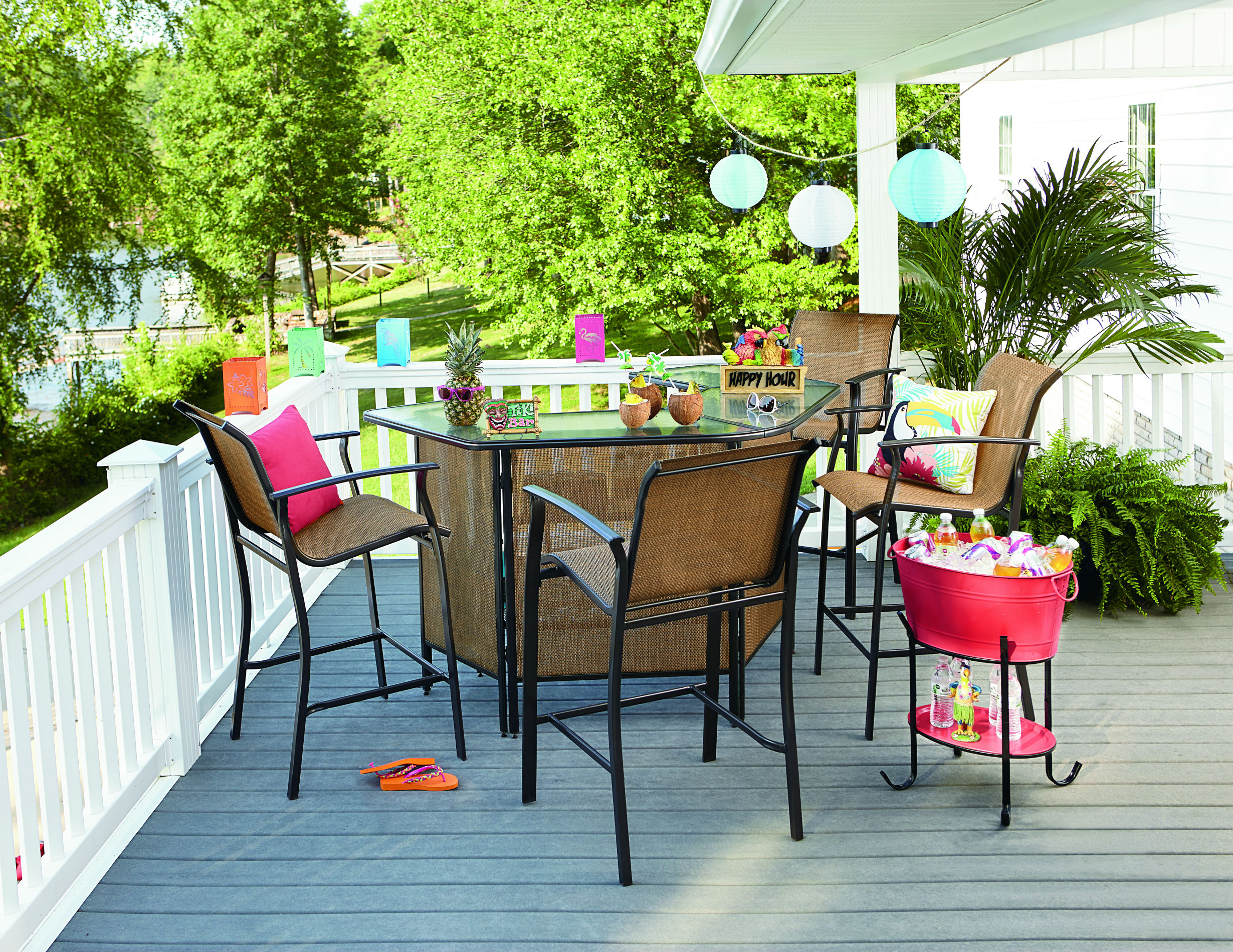 essential garden fulton 5-piece patio bar set *limited availability MKAFEAT
