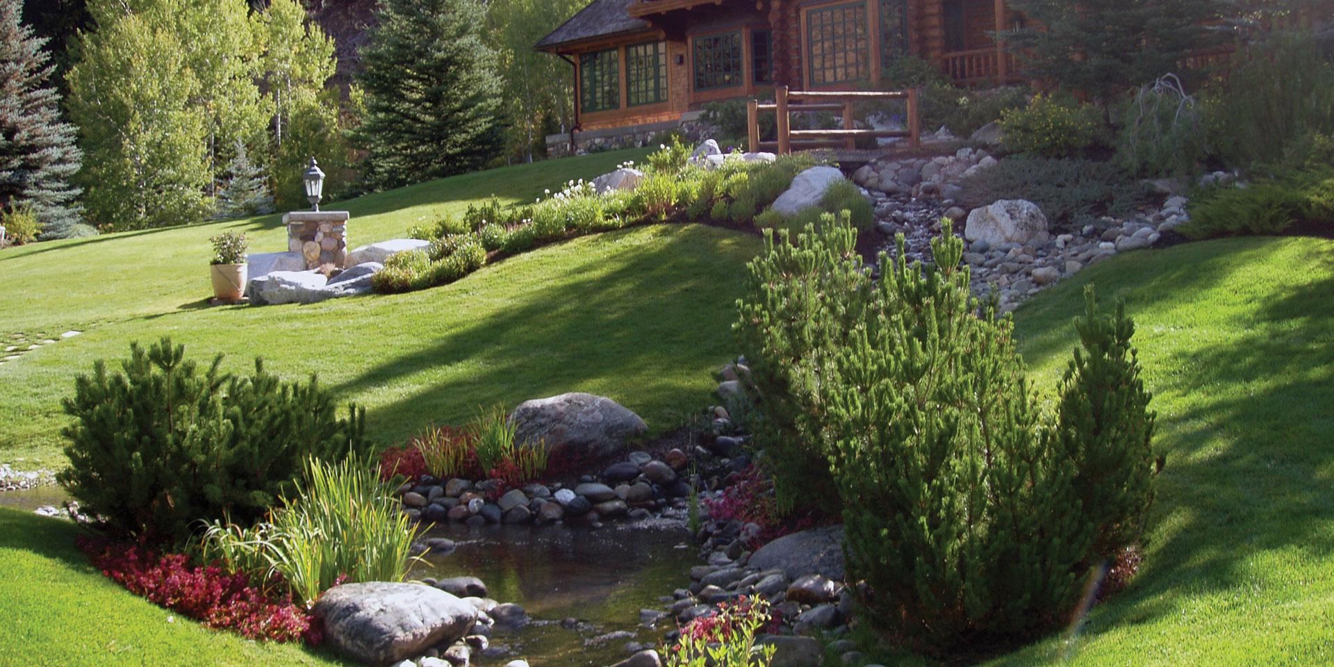 evergreen landscaping UMGXYHG
