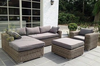 evergreen wicker furniture - sectional sofa - rattan furniture - patio FXFQEWD