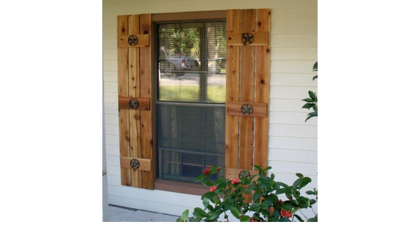exterior wood shutters give your home a unique, one-of-a-kind look with decorative custom made wooden KMLVNHZ