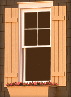 Why painting exterior wood shutters is important